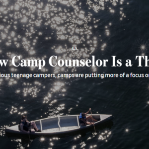 Camp Counselor as Therapist